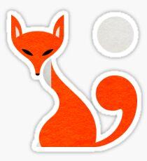 Fox and Moon Semicolon Version Sticker