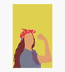 Beyonce as Rosie the Riveter Photographic Print