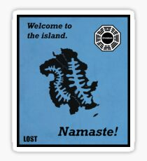 Welcome to the Island Print Sticker
