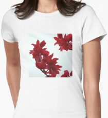 Autumn Red Women's Fitted T-Shirt