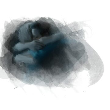 Swanfire digital painting (Once Upon a Time, Neal & Emma) by rainingonsunday