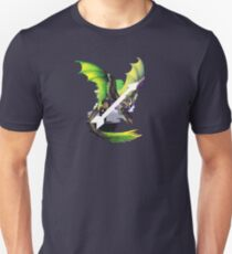 Camiseta ajustada Aromantic Pride Dragon