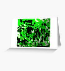 Neon Fractures Abstract Greeting Card