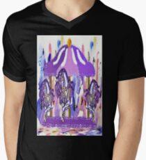 Purple carousel horse Mens V-Neck T-Shirt