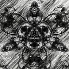 Majestic Scribble Symmetrical Abstract by Printpix