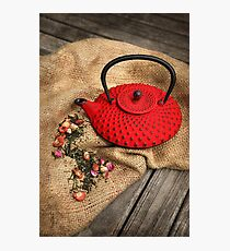Red Pot Photographic Print