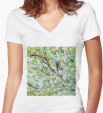 False Spring Panel 2 Women's Fitted V-Neck T-Shirt