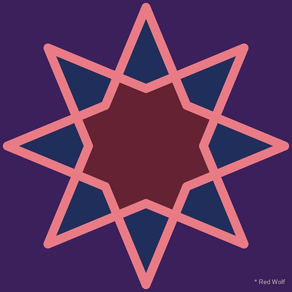 Geometric Pattern: Octagram: Plum by * Red Wolf