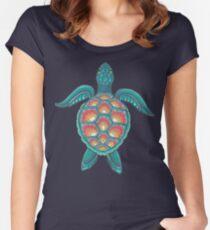 Camiseta entallada de cuello redondo Tortuga Mandala