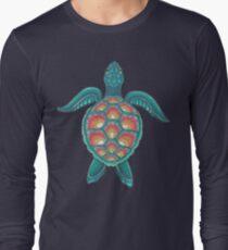 Mandala-Schildkröte Langarmshirt