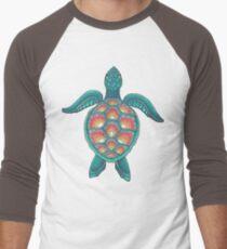 Mandala-Schildkröte Baseballshirt für Männer