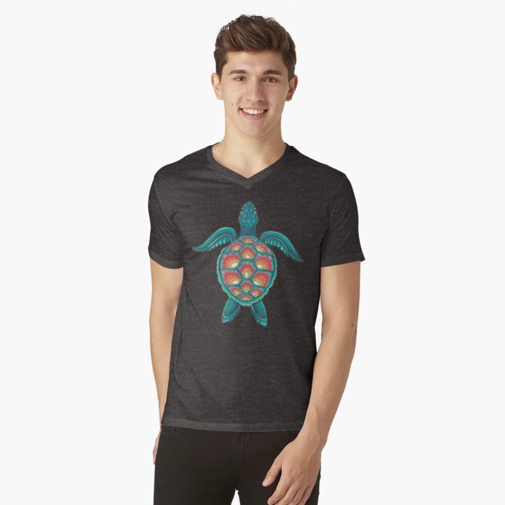 Mandala Turtle V-Neck T-Shirt