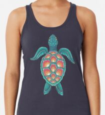 Mandala-Schildkröte Tanktop für Frauen