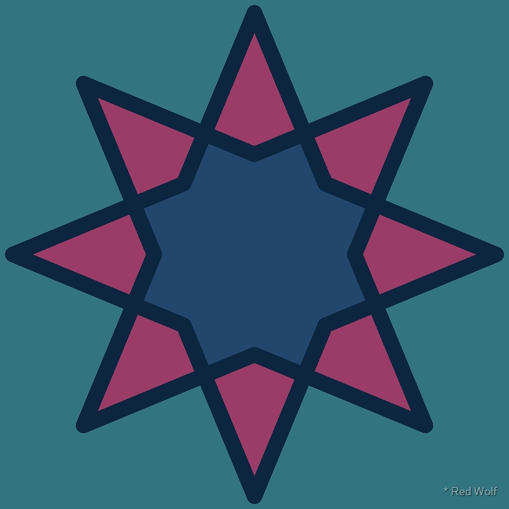 Geometric Pattern: Octagram: Bangalow by * Red Wolf