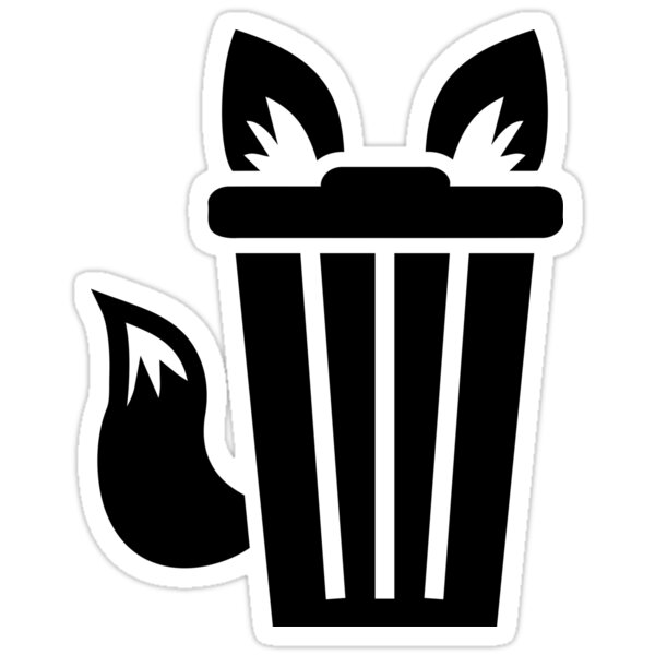 Quot Furry Trash Icon Quot Stickers By Iconoklast Redbubble