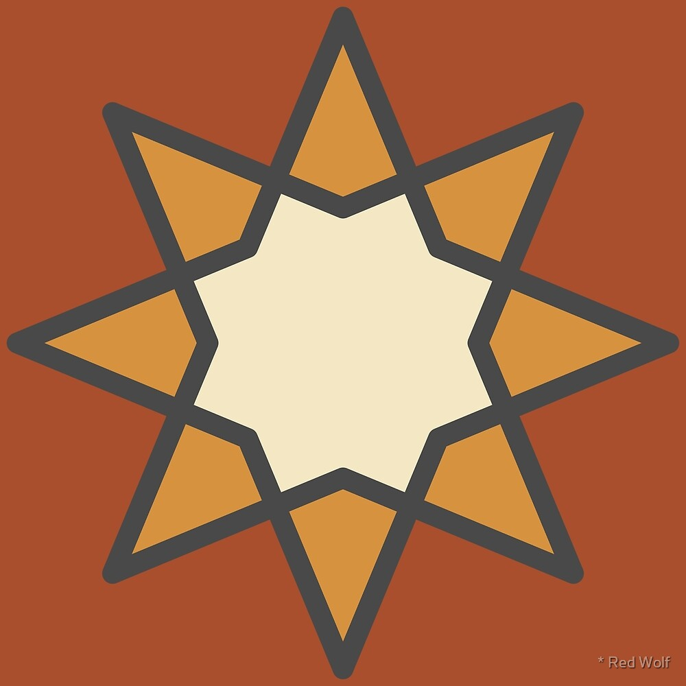 Geometric Pattern: Octagram: Barracuda by * Red Wolf