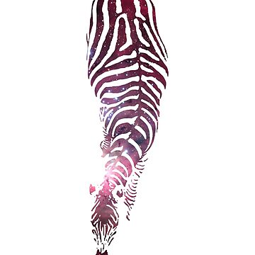 Abstract Zebra - version 6 - space by Supreto