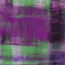 Purple, Green and black abstract painting by Printpix
