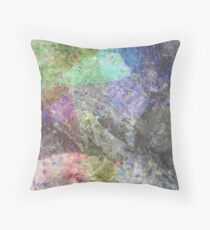 Multi Coloured Abstract Painting Throw Pillow