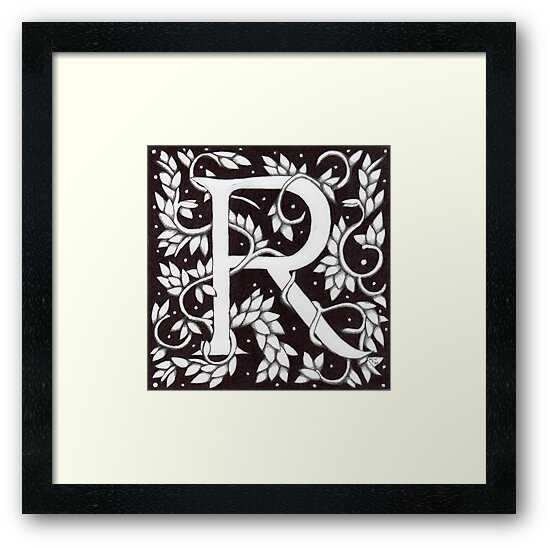 "Art Nouveau ""R"" (Sold) by Donna Huntriss"