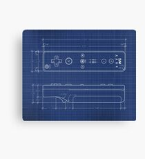 Wii Remote Blueprint Canvas Print