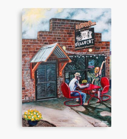 'SMELLY CAT COFFEEHOUSE' Canvas Print