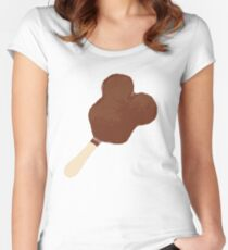 Mickey Ice Cream Bar Women's Fitted Scoop T-Shirt