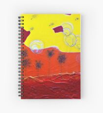 Bubble Flowers and Dandelions Seeds Spiral Notebook