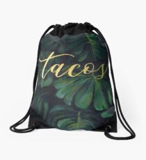 Tacos in the Tropics Drawstring Bag