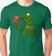 Kermit sipping tea (Redesign) Unisex T-Shirt