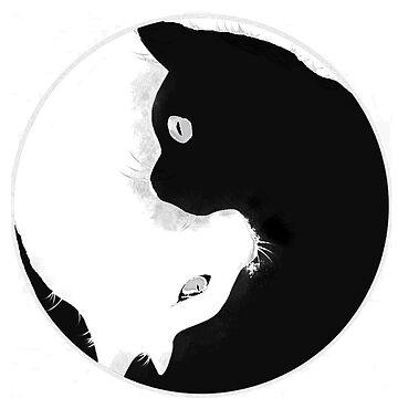 YIN YANG KITTY CAT by winifredweiss