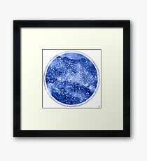 Northern Star Map Framed Print