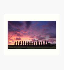 Ahu Tongariki, Rapa Nui, Chile Art Print