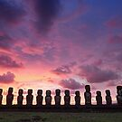 Ahu Tongariki, Rapa Nui, Chile by Graham Gilmore