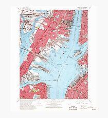 USGS TOPO Map New Jersey NJ Jersey City 254502 1967 24000 Photographic Print