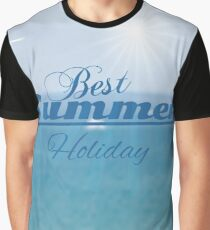 summer blurred seascape Graphic T-Shirt