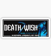 Death Wish JDM Slap Blue Sticker