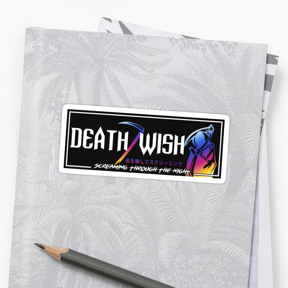 Death Wish JDM Slap Neo Pegatina