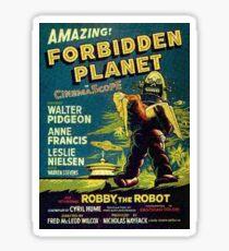Vintage Sci-fi Movie Forbidden Planet, Robot Sticker