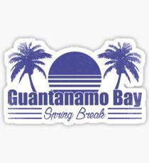 Guantanamo Bay Spring Break Sticker