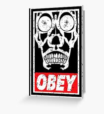 Skull Obey Greeting Card