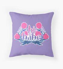 bi babe floral♠ Throw Pillow