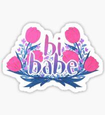 bi babe floral♠ Sticker