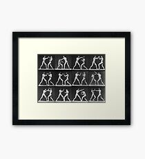 Eadweard Muybridge - Fight Boxer Motion Study Framed Print