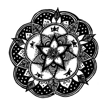 Hand drawn Mandala by Leah D by TequilaSheila