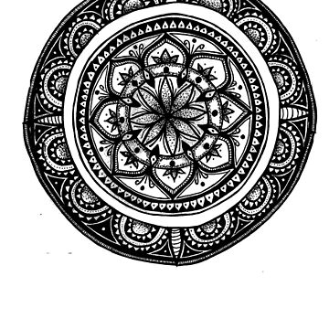 Hand Drawn Mandala #3 by Leah D by TequilaSheila
