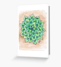 The Single Succulent Greeting Card