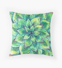The Single Succulent Throw Pillow