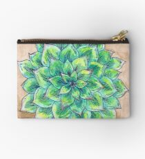 The Single Succulent Zipper Pouch