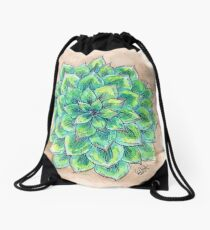 The Single Succulent Drawstring Bag